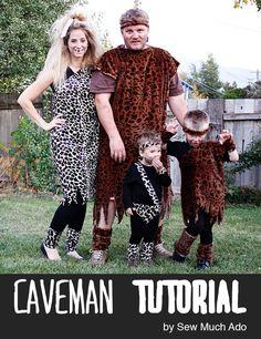 Caveman family costume