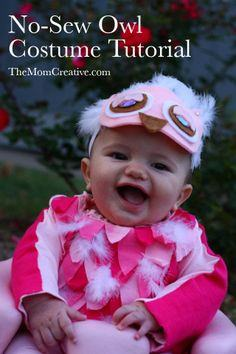 No-Sew Owl Costume  sc 1 st  Halloween Decorations Costumes Crafts at Halloween Freebies & Baby Halloween Costumes with Photos - HalloweenFreebies.com