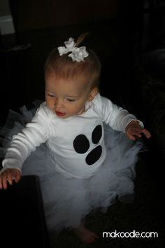 DIY BABY GHOST COSTUME