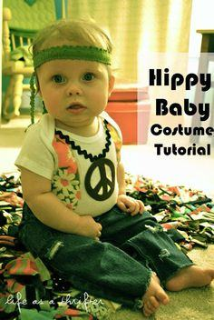 A Hippy Baby Costume