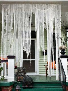 Make Ghostly Outdoor Draperies