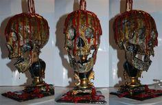 Bloody Skull Candle Lamp