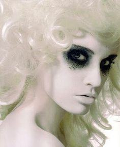 White Ghostly Makeup Inspiration