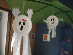Paper Plate Ghost & 100 Halloween Ghost Crafts - Halloween Freebies with Photos