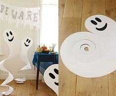 friendly paper ghosts