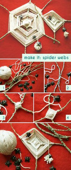 Yarn, sticks, & spider webs