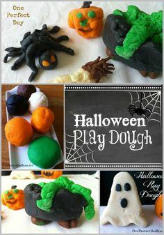 Halloween play dough colors