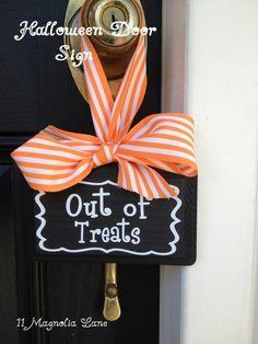 Out of Treats Sign