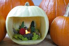 Pumpkin diorama idea