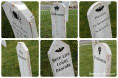 Awesome DIY tombstones
