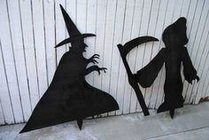 Silhouettes For a Spooky Yard