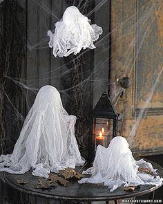 Mini Cheesecloth Ghosts