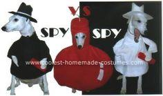 Homemade Spy vs Spy Dog Costumes