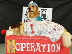 Homemade Goldens Playing Operation Game Costume