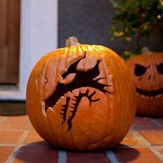 Maleficent's Dragon Pumpkin Carving