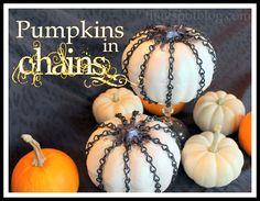 Chain covered pumpkins