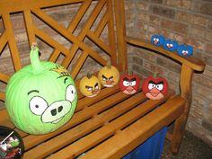Angry Birds Painted Pumpkins