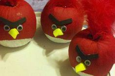 Make Red Angry Birds Pumpkins