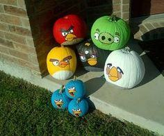 Angry birds pumpkin style!