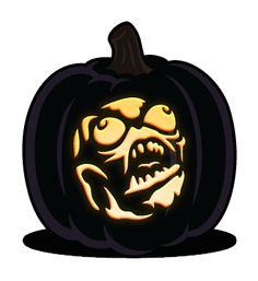 Rage Guy pumpkin pattern