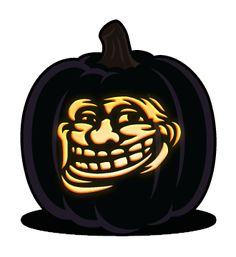 Troll face pumpkin pattern
