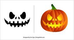 Scary Pumpkin Carving Pattern