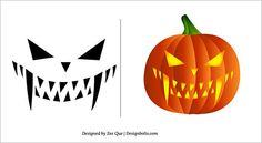 Free Scary Carving Pattern