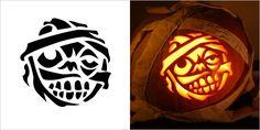 Mummy Pumpkin Carving Stencil