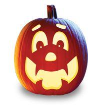 Happy Hal Pumpkin Carving Pattern