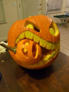 Cannibalistic Pumpkin Carving