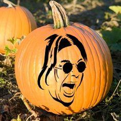 Ozzy Pumpkin Carving Templates
