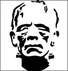 A frankenstein carving template.