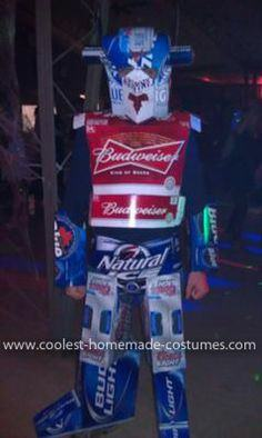 Beer boxes cans and hot glue & 100 Transformer Costumes for Halloween