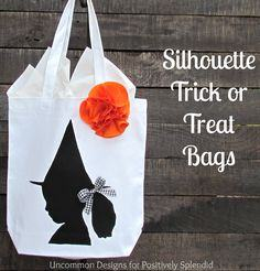 Silhouette Trick or Treat bag