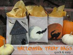 Halloween Treat Tote Bags