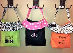 Stylish trick or treat bags
