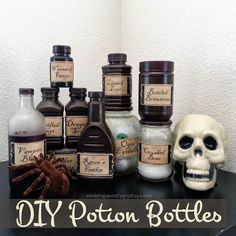 DIY WITCH'S POTION BOTTLES