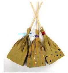 Witches broom treat bag