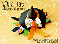Witch Hat Ribbon Sculpture