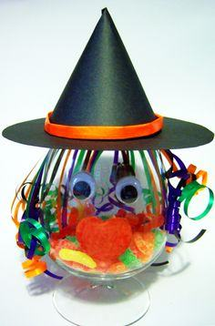 Halloween Candy Dish Witch