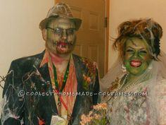 Zombie Bride and Groom Couple